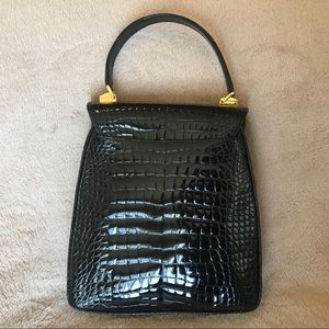Bags - Lana Marks Princess Diana Frame Alligator Bag